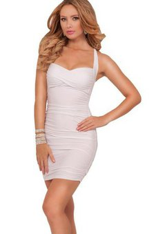 Sheath Short Zipper Up Ruched Sweetheart Cocktail Dress
