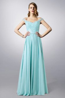 Bow Off The Shoulder Chic & Modern Keyhole Back Lace Fabric Evening Dress