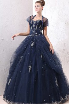 Tulle Appliques Ball Gown A-Line Dressed In 16 Years