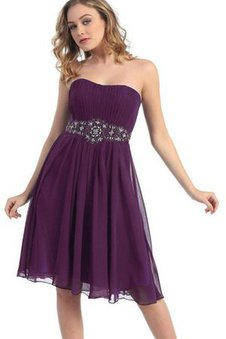 Sleeveless Beading Strapless A-Line Pleated Dressed In 16 Years