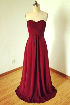 A-Line Chiffon Sleeveless Sweetheart Natural Waist Bridesmaid Dress