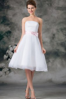 Organza A-Line Strapless Sleeveless Dressed In 16 Years