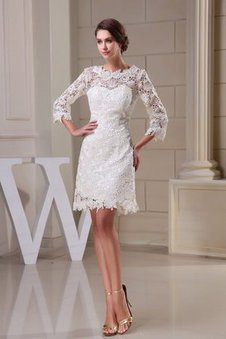 A-Line Half Sleeves Short Appliques Homecoming Dress