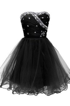 Sleeveless Ruched Beading Tulle Sweetheart Dressed In 16 Years