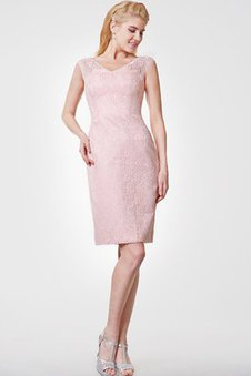 Lace Fabric Sheath Knee Length Zipper Up Vintage Cocktail Dress