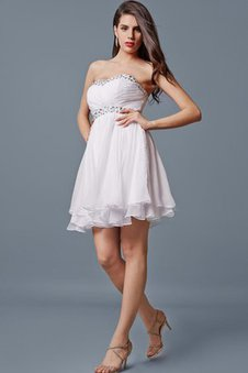 Sequined Sweetheart Short Beading Sleeveless Dressed In 16 Years