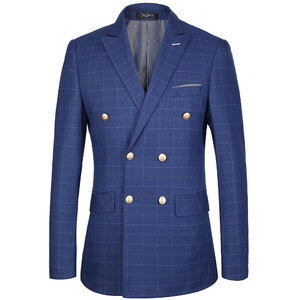 Jacket Business Men Double Breasted Slim Fit Luxury Brand Men Blazer Men Suit