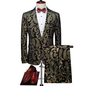 Men Print Fashion Carry Man Suit Slim Fit Suit