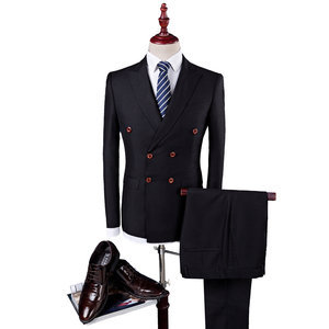 Relaxed Business High Quality Groom Wedding Dress Slim Fit Male 3 Piece Suit