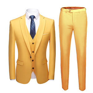 Wedding Prom Laid Back Business Groomsman 3 Pieces Unique Suits