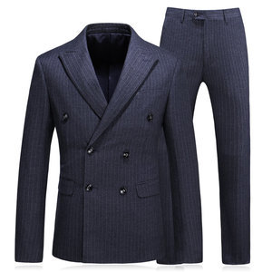 Double Breasted Relaxed Striped Vest Tuxedos Business Suit