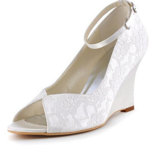 Summer Wedges Luxury Actual Heel Height 3.15 Inch Wedding Shoe