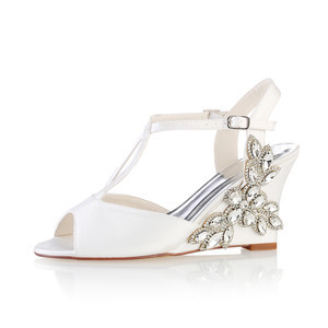 Actual Heel Height 3.15 Inch Wedges Classic Spring Summer Wedding Shoe