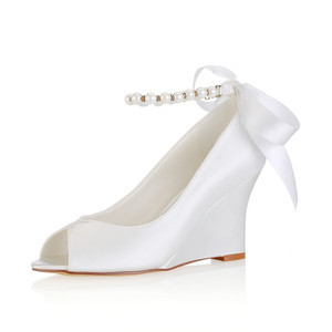 Actual Heel Height 3.15 Inch Wedges Summer Trend Wedding Shoe