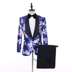 Terno Together Slim Fit Wedding Clothing Scene Printed Men Suits