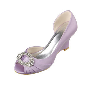 Modern Spring Wedges Actual Heel Height 2.95 Inch Wedding Shoe