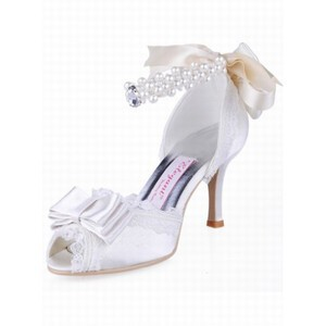 High-heeled Fish Head Satin Bridal Shoe