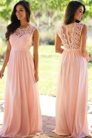 Appliques Chiffon Natural Waist Sleeveless Princess Evening Dress