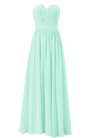 Strapless Chiffon Floor Length Notched Pleated Bridesmaid Dress