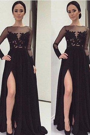 Princess Floor Length Lace Long Sleeves Chiffon Evening Dress