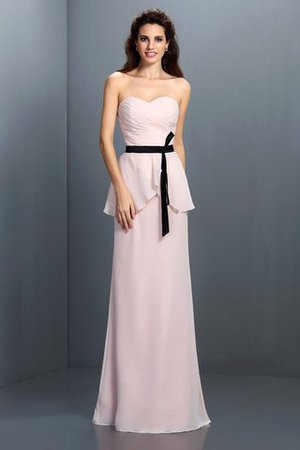 Floor Length Chiffon Sashes Sheath Bridesmaid Dress
