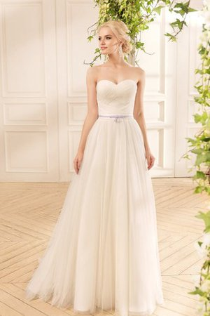 Lace Sweep Train 3/4 Length Sleeves Criss-Cross Elegant & Luxurious Wedding Dress