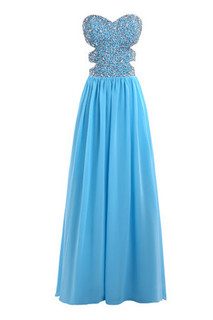 Strapless Fancy Princess Artificial Silk Hall Prom Dress