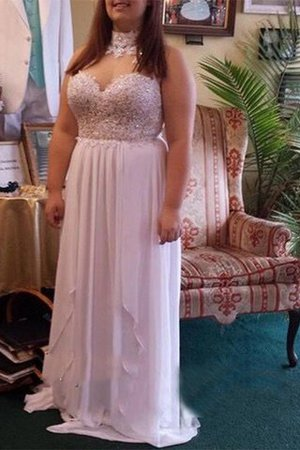 Sleeveless Chiffon Plus Size A-Line Sweetheart Prom Dress