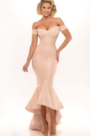 Mermaid Sweetheart Sequined Embroidery High Low Evening Dress