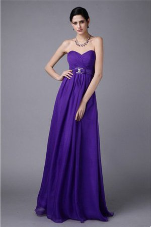 Pleated A-Line Sweetheart Beading Bridesmaid Dress