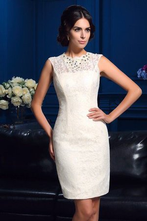 Sleeveless Zipper Up Natural Waist Jewel Short Mother Of The Bride Dress