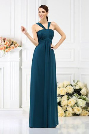 Empire Waist Princess Wide Straps Long Bridesmaid Dress