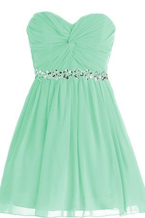 Pleated Lace-up Chiffon Short Natural Waist Prom Dress