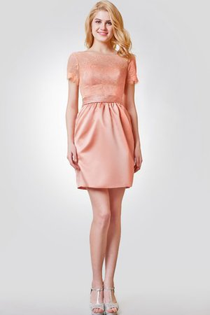 Informal & Casual Empire Satin Simple Scoop Cocktail Dress