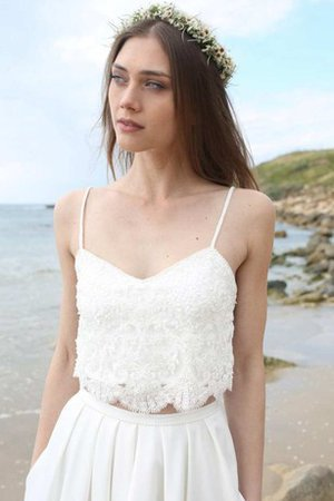 Lace Fabric Tulle Sleeveless Beach Beading Wedding Dress