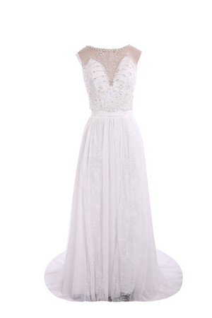 Exclusive Romantic Floor Length Chiffon Multi Layer Wedding Dress