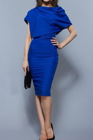 Sheath Short Sleeves Sexy High Neck Ruched Mother Of The Bride Dress