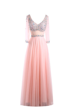 Outdoor Princess Demure Crystal Mother Of The Bride Dress