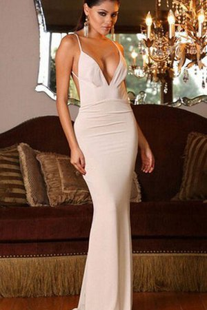 Long V-Neck Sleeveless Mermaid Natural Waist Prom Dress