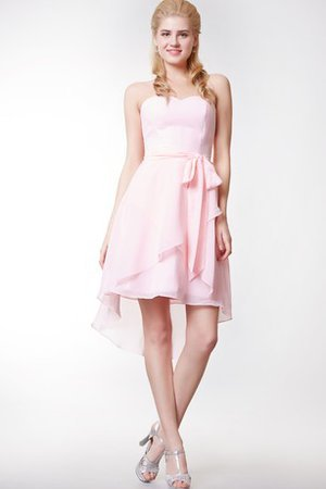 Criss-Cross Tiered Chiffon High Low Bridesmaid Dress