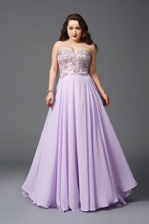 Long Sleeveless Natural Waist Chiffon Plus Size Prom Dress