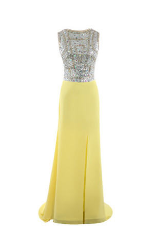 Formal Church Beading Zipper Up Elegant & Luxurious Evening Dress