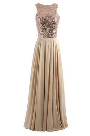 Vintage Natural Waist Asymmetrical Neck Formal Sweep Train Prom Dress