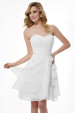 Natural Waist Draped A-Line Sweetheart Bridesmaid Dress