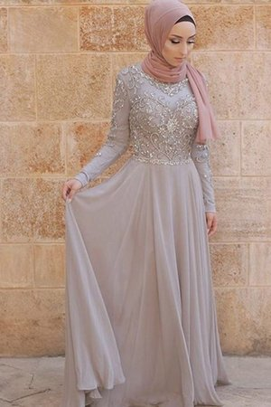 Natural Waist Zipper Up Gorgeous Tulle Crystal Scoop Long Sleeves Evening Dress