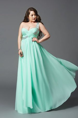 Floor Length Long Sleeveless Chiffon A-Line Prom Dress
