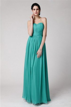 Pleated Long Sheath Zipper Up Sweetheart Bridesmaid Dress
