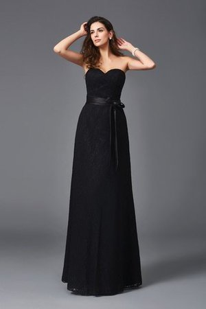 Sleeveless A-Line Floor Length Sweetheart Natural Waist Bridesmaid Dress