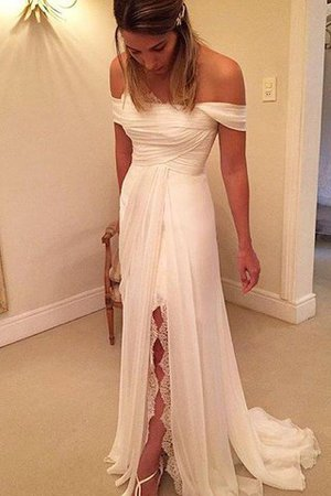 A-Line Sleeveless Ruffles Natural Waist Wedding Dress