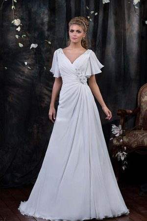 Draped Ruched Floor Length Vintage Elegant & Luxurious Wedding Dress